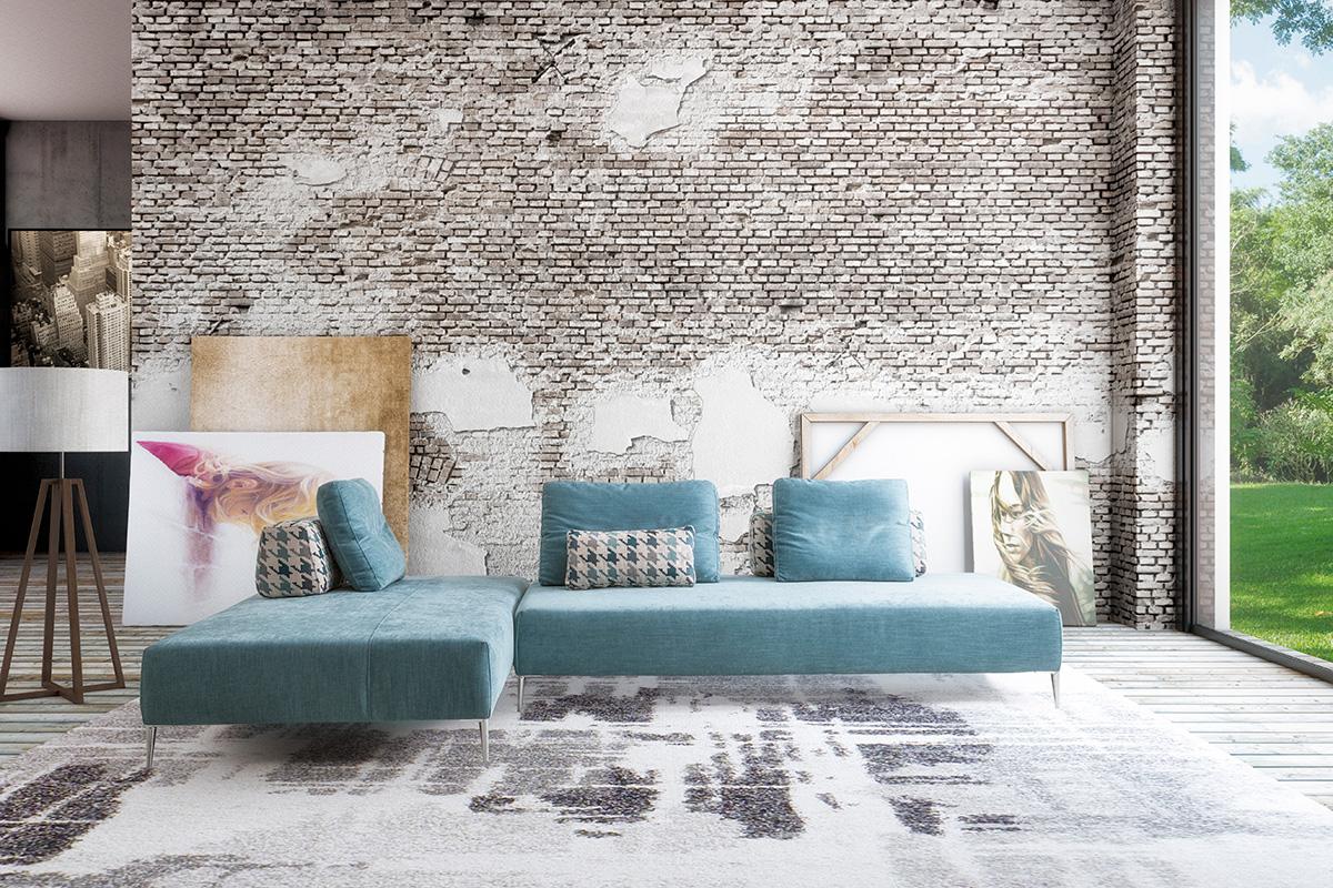 Gamma salotti divano componibile protagonista della scena for Colori del rivestimento della baracca