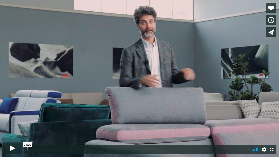 I nuovi tessuti Techno Water Clean per vivere in serenità il tuo divano [GUARDA IL VIDEO]