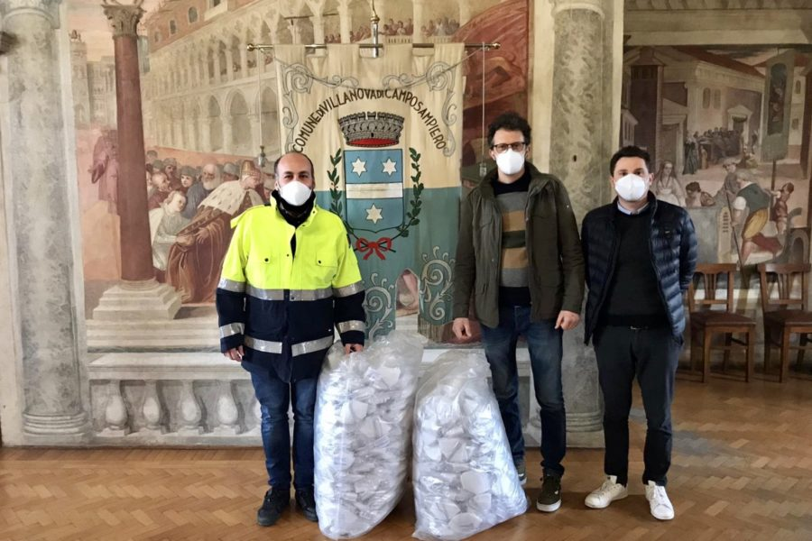 10.000 mascherine che partono dal cuore dei dipendenti dell'azienda